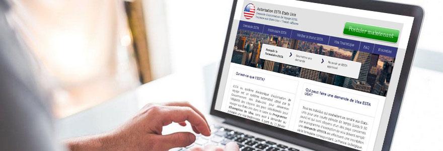 demande de Visa en ligne  etats unis